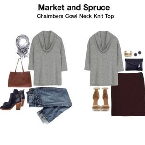 Stitch Fix Cowl Neck Sweater Gray Market & Spruce
